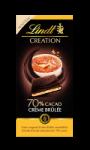 Tablette de chocolat noir 70% Crème Brûlée Lindt Création