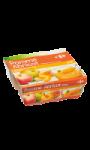 Dessert de fruits pomme abricot Carrefour