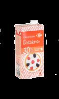 Crème fluide et entière 30% MG Carrefour