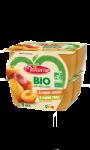 Compotes pomme poire, pomme abricot sans sucres ajoutés bio Materne