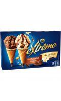 Glaces Cônes Chocolat Vanille pépites de Nougatine Extrême Nestlé