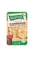 Flammekueche fromage blanc lardons oignons Stoeffler