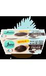Dessert végétal au lait d'amande plaisir coco chocolat June