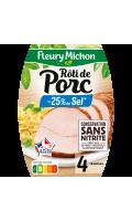 Rôti de porc cuit -25% sel Fleury Michon