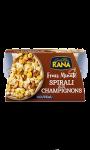 Plat cuisiné riccioli à la sauce aux champignons Rana