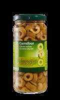 Olives vertes en rondelles Carrefour