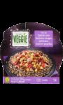 Plat cuisiné trio de quinoa haricot poivron Carrefour Veggie