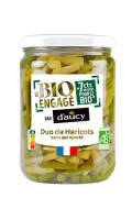 Duo haricots verts & haricots beurre Bio D'Aucy