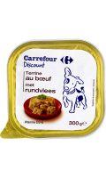 Pâtée pour chiens terrine au bœuf Carrefour Discount
