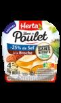Blanc de poulet à la broche sel réduit conservation sans nitrite 4 tranches Herta