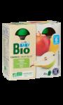 Compotes bébé en gourde pomme poire bio dès 6 mois Carrefour Baby