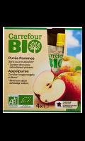 Compotes de pommes s/s ajoutés en gourdes Carrefour Bio