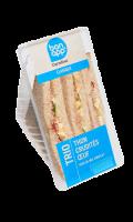 Sandwich Trio thon crudités œuf  Bon App' Carrefour