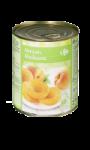 Abricots au sirop léger Carrefour