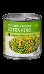 Petits pois et carottes extra-fins Carrefour