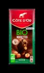 Chocolat Noir noisettes Bio Côte d'Or