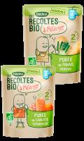 Repas bébé à mélanger dès 6 mois Les Récoltes Bio Blédina