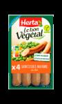 Le Bon Vegetal Saucisses Nature au Blé Herta