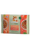 Pâté pour chat sachet fraîcheur saumon & truite Ultima Nature