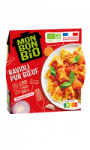Plat cuisiné ravioli pur boeuf bio Mon Bon Bio