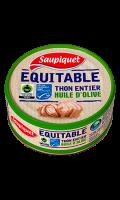 Thon entier huile d'olive extra vierge Équitable MSC Saupiquet