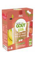 Compotes fraise et banane Kid sans sucres ajoutés Bio Good Goût Kidz