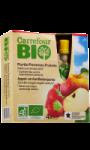 Compotes pommes fraises sans sucres ajoutés Carrefour Bio