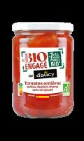 Tomates entières pelées de plein champ sans sel ajouté D'aucy