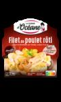 Plat cuisiné filet de poulet rôti/gratin pommes de terre/chou-fleur La Cuisine d'Océane