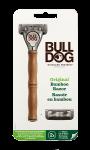 Rasoir en bambou avec recharge à 5 lames Bulldog