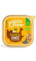 Pâté pour chiens savoureuse dinde Bio Edgard Cooper