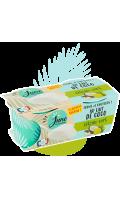 Dessert Ferme et Onctueux au lait de coco Citron Vert June