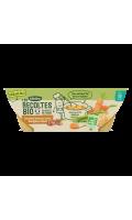 Repas bébé Carottes Haricots Verts Boulghour et B?uf Blédina Les Récoltes Bio