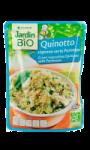 Plat cuisiné bio quinoa légumes verts...