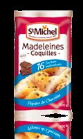 Madeleines Coquilles individuelle aux pépites de chocolat Saint Michel