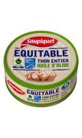 Thon Entier Huile D'Olive Équitable Saupiquet