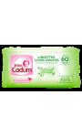 Lingettes ultra-douces hypoallergéniques Natural Caresse Bébé Cadum
