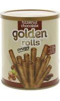 Hazelnut Chocolate  Crispy Golden Rolls