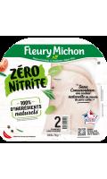 Jambon de porc zéro nitrite 2 tranches Fleury Michon