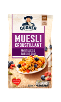 Céréales muesli myrtille & baies de goji Quaker
