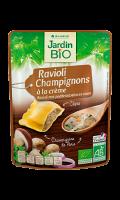 Plat cuisiné ravioli aux champignons et à la crème Bio Jardin Bio