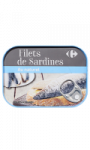 Filets sardines au naturel Carrefour