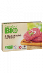 Steak Haché bio pur boeuf Carrefour Bio