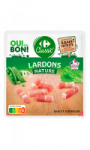 Lardons nature Carrefour Classic'