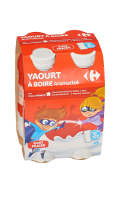 Yaourts à boire goût fraise Carrefour Kids