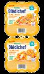 Assiettes bébé dès 15 mois ,Colombo de riz ou Tajine de poulet, 250G Bledichef