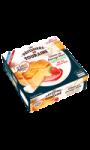 Gâteau au fromage blanc légèrement citronné avec son coulis de fraise Le Saint Amour