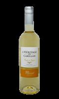 Vin I.G.P Pays d'Oc Blanc Moelleux Muscat L'Héritage de Carillan
