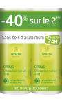Duo Déodorant roll-on 24H Citrus Weleda
