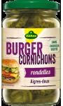 Cornichons Bio spécial Burger en rondelles aigres-doux Kühne